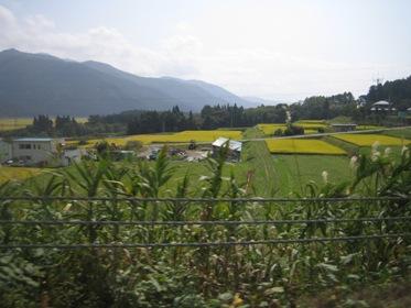 裏磐梯の秋の田園風景