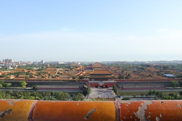 景山公園から紫禁城の屋根