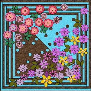 バラとクレマチスの庭