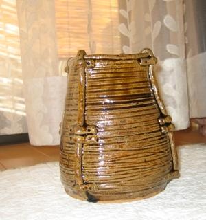 魚籠型花瓶